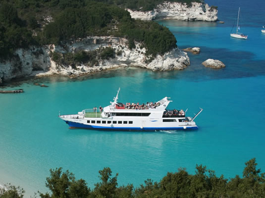 Paxos & Antipaxos islands day cruise from Corfu