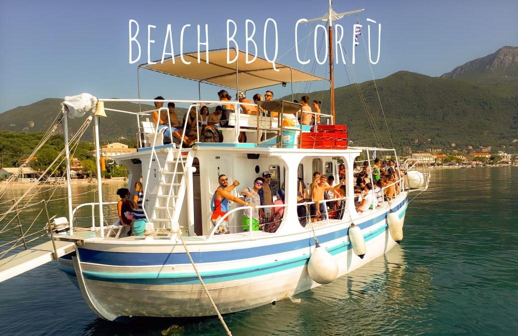 Corfu BBQ sulla Spiaggia - gita in barca