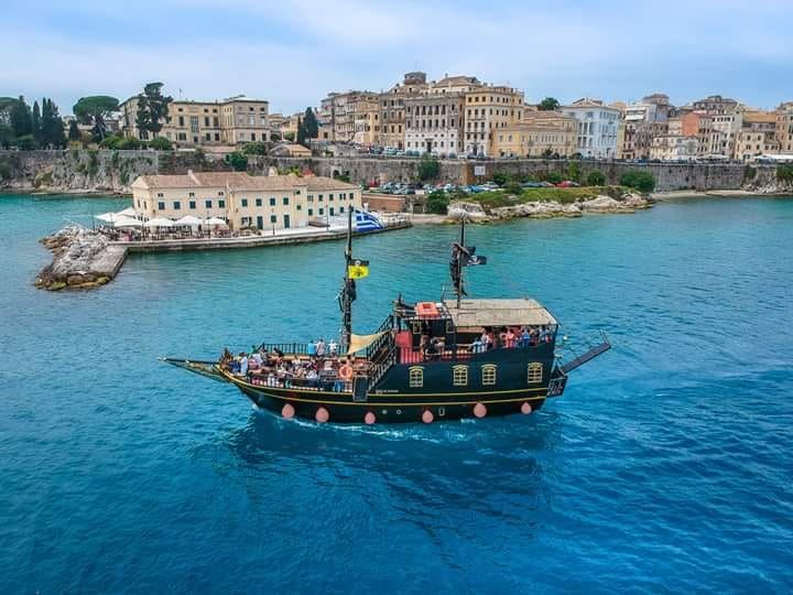 Corfu 70 min Tour with Pirate ship BLACK ROSE